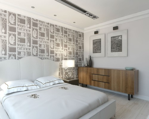 Дизайн спальни 18 кв.м