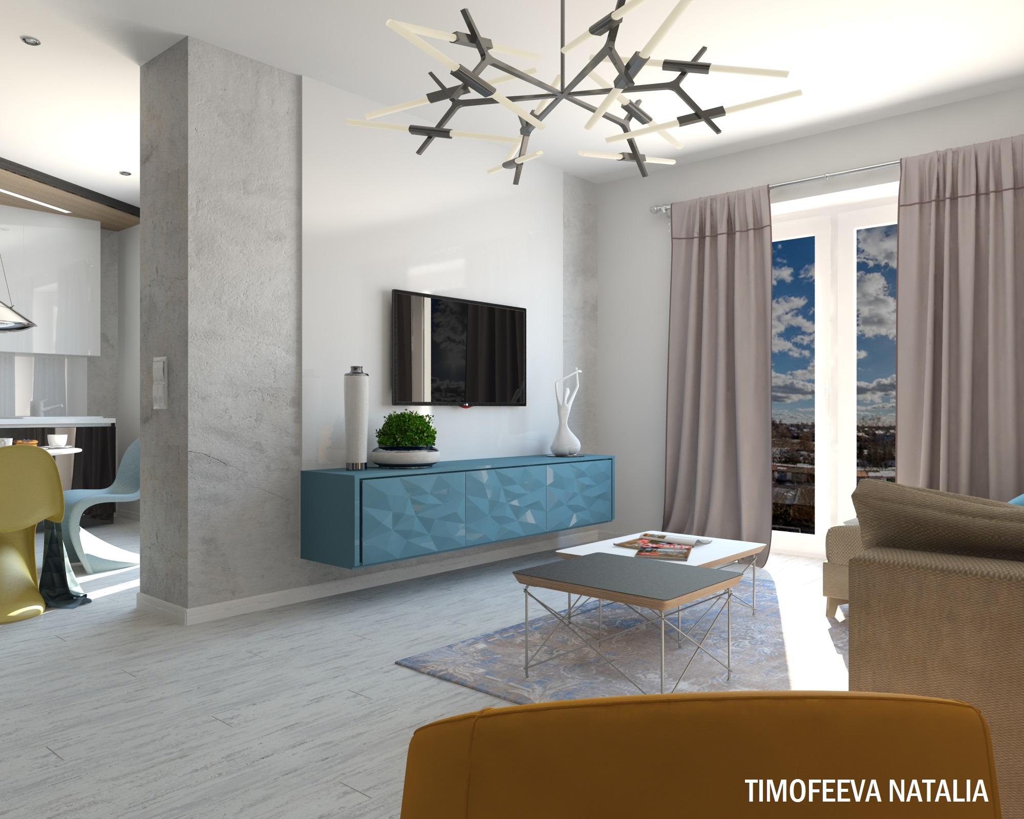 Дизайн 1 ком квартиры 40 кв м