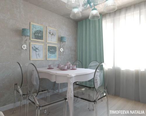 Дизайн 1 ком.квартиры 35 кв.м