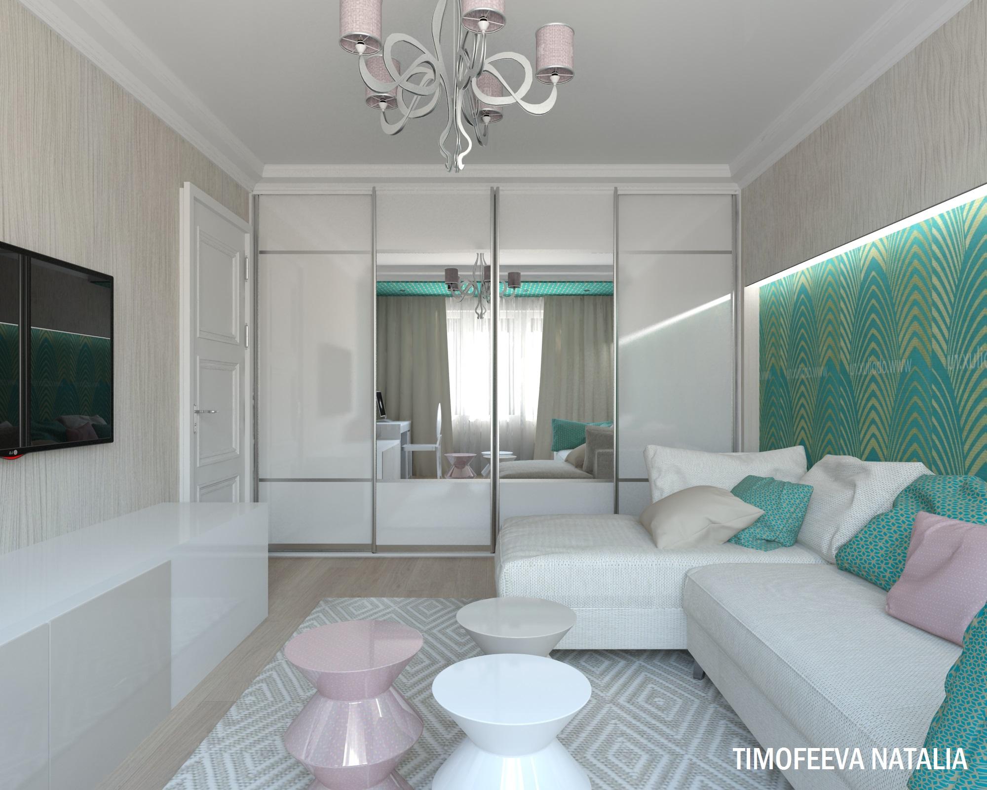 Дизайн интерьера 42 кв м