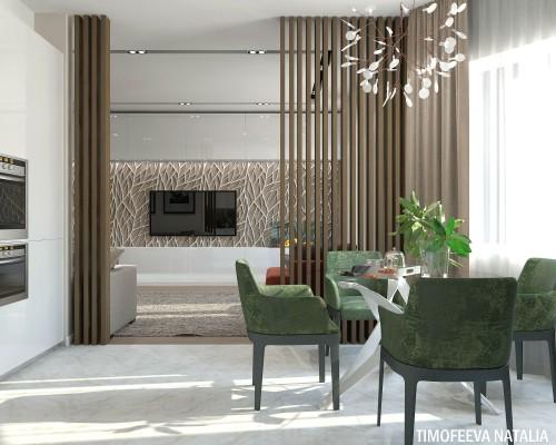 Дизайн 3 ком.квартиры 80 кв.м