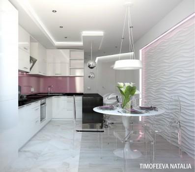 Дизайн 3 ком.квартиры 90 кв.м
