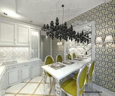 Дизайн кухни 12 кв.м