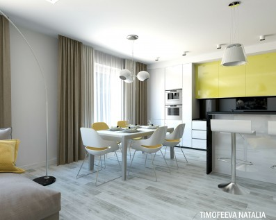Дизайн 3 ком. квартиры 104 кв.м
