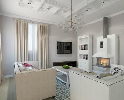 Дизайн дома кухня-гостиная