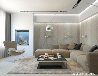 Дизайн 3 ком.квартиры 84 кв.м