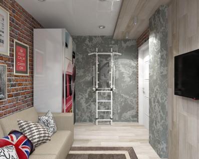 Дизайн 3 ком. квартиры 64 кв.м
