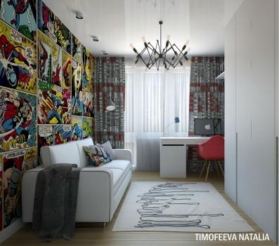 Дизайн 3 ком.квартиры 68 кв.м