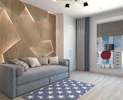 Дизайн 3 ком.квартиры 100 кв.м