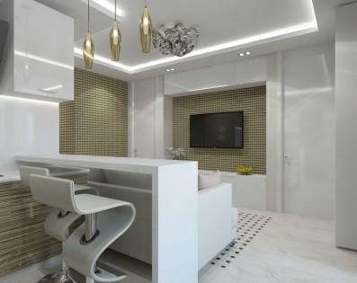 Дизайн 3 ком.квартиры 83 кв.м