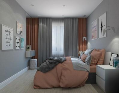 Дизайн 3 ком.квартиры 64 кв.м