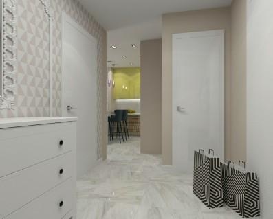 Дизайн 1 ком. квартиры 59 кв.м
