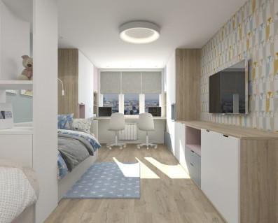 Дизайн 2 ком.квартиры 84 кв.м