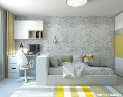 Дизайн 3 ком.квартиры 70 кв.м