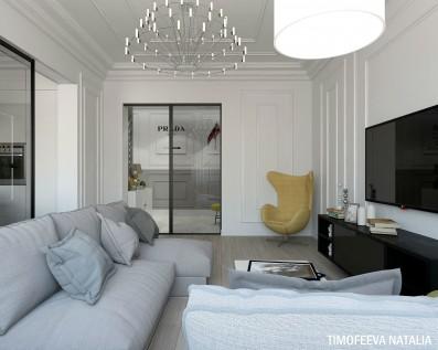Дизайн 3 ком.квартиры 104 кв.м