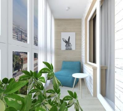Дизайн 2 ком.квартиры 48 кв.м