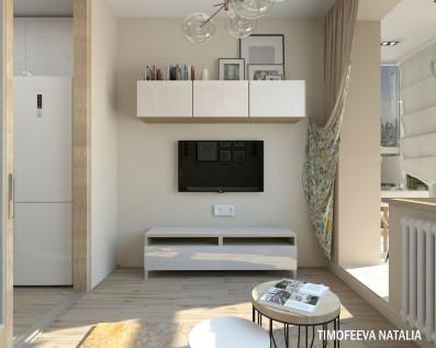 Дизайн 1ком. квартиры 28 кв.м