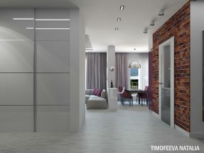 Дизайн 3 ком. квартиры 94 кв.м