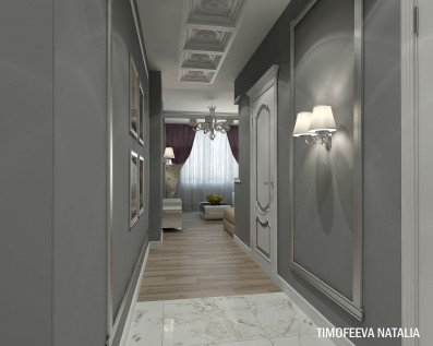 Дизайн 3 ком.квартиры 85 кв.м