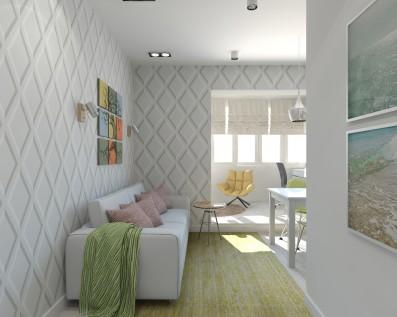 Дизайн 1 ком.квартиры 45 кв.м