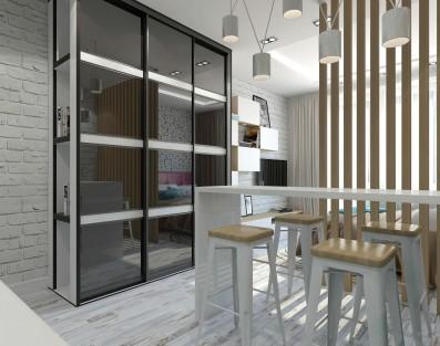 Дизайн студии 26 кв.м