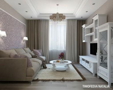 Дизайн 3 ком.квартиры 74 кв.м