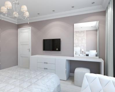 Дизайн спальни 17 кв.м