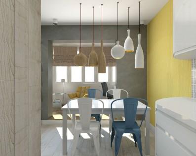 Дизайн квартиры-студии 45 кв.м