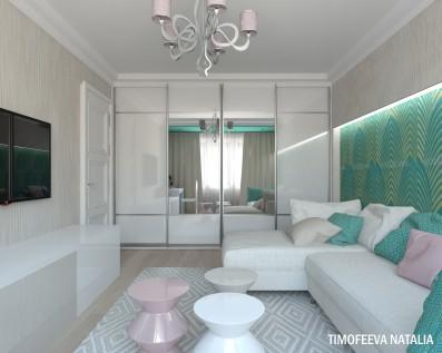 Дизайн 1 комнатной квартиры 35 кв м