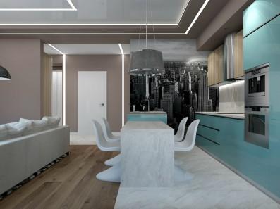Дизайн 2 ком.квартиры 68 кв.м