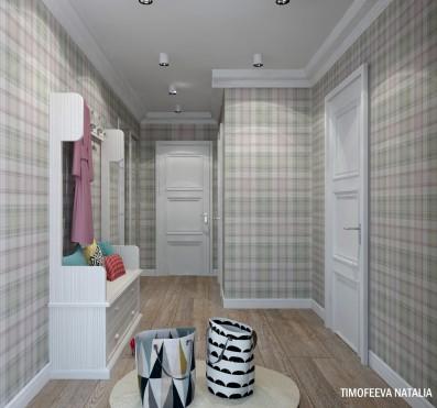 Дизайн 1ком.квартиры 46 кв.м